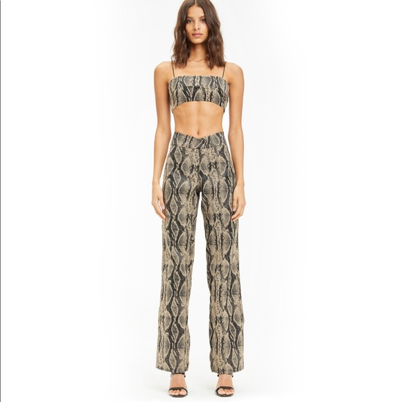 I Am Gia Capricorn Snake Pants NWT